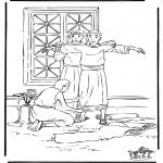 Bibel Ausmalbilder - Josef in Ägypten