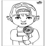 Ausmalbilder für Kinder - Junge 1