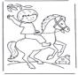 Junge auf Pferd