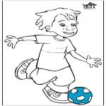 Allerhand Ausmalbilder - Junge mit Fußball