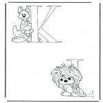 Allerhand Ausmalbilder - K und L