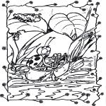 Ausmalbilder Tiere - Kahn schippern 1