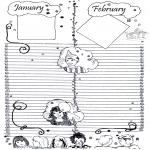 Malvorlagen Basteln - Kalender Teil 1