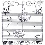 Malvorlagen Basteln - Kalender Teil 2