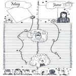Malvorlagen Basteln - Kalender Teil 3