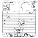 Malvorlagen Basteln - Kalender Teil 5