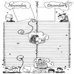 Malvorlagen Basteln - Kalender Teil 6