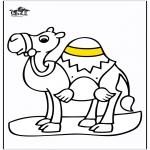Ausmalbilder Tiere - Kamel 2