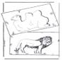 Kamel und Löwe