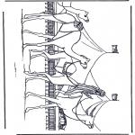 Ausmalbilder Tiere - Kamele