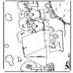Allerhand Ausmalbilder - Kampieren 2