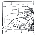 Ausmalbilder Tiere - Känguru 1