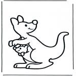 Ausmalbilder Tiere - Känguru 2