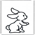 Ausmalbilder Tiere - Kaninchen 1