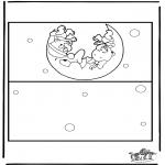 Malvorlagen Basteln - Karte Baby 2