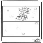 Malvorlagen Basteln - Karte  Baby 3