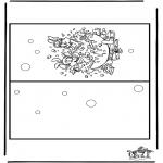 Malvorlagen Basteln - Karte Bobo