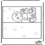 Malvorlagen Basteln - Karte Dora 2