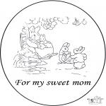 Malvorlagen Basteln - Karte für Mutter