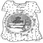 Malvorlagen Basteln - Karte Geburtstag 2