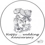 Ausmalbilder Themen - Karte.. Jahr verheiratet