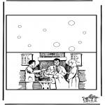 Malvorlagen Basteln - Karte Taufen