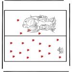 Ausmalbilder Themen - Karte  Valentin1