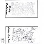 Malvorlagen Basteln - Karte Weihnachten 2