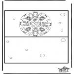 Malvorlagen Basteln - Karte Weihnachten 3