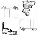 Malvorlagen Basteln - Karten 1