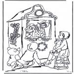 Ausmalbilder für Kinder - Kasperletheater