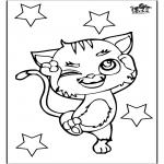 Ausmalbilder Tiere - Katz 3
