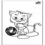 Ausmalbilder Tiere - Katz 5