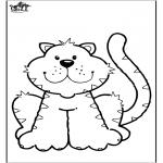 Ausmalbilder Tiere - Katz 6