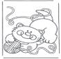 Katze mit Wollball
