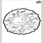 Malvorlagen Mandalas - Katzen Mandala