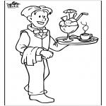 Allerhand Ausmalbilder - Kellner 2