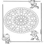Malvorlagen Mandalas - Kinder geomandala 1