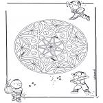 Malvorlagen Mandalas - Kinder Geomandala 3