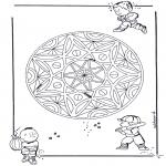 Malvorlagen Mandalas - Kinder Geomandala