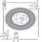 Malvorlagen Mandalas - Kinder mandala 25