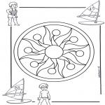 Malvorlagen Mandalas - Kindermandala 1