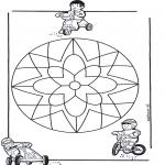 Malvorlagen Mandalas - Kindermandala 10