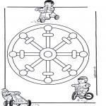 Malvorlagen Mandalas - Kindermandala 11