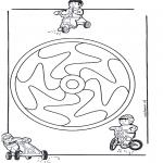 Malvorlagen Mandalas - Kindermandala 12