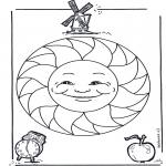 Malvorlagen Mandalas - Kindermandala 15
