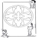 Malvorlagen Mandalas - Kindermandala 16