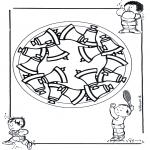 Malvorlagen Mandalas - Kindermandala 17