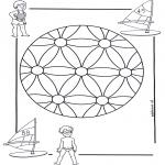 Malvorlagen Mandalas - Kindermandala 2