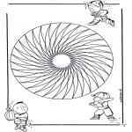 Malvorlagen Mandalas - Kindermandala 20